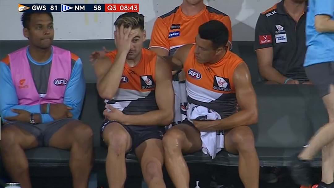 GWS Sweating On Scans Over One Of Their Stars