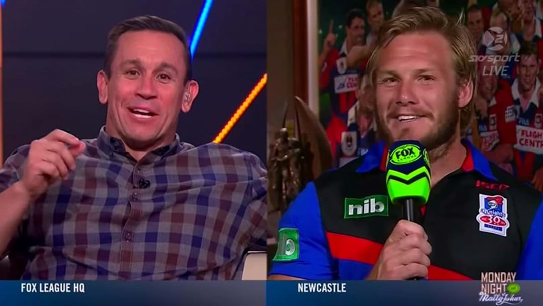 Matty Johns Teaches Nathan Ross Newcastle Victory Song