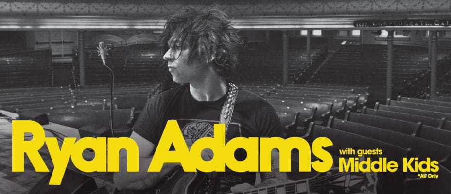 Ryan Adams Tickets Up For Grabs For Club Members!