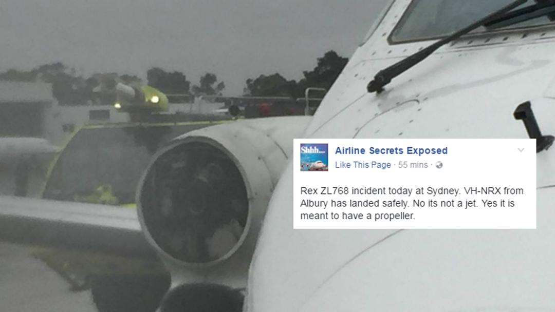 REX Plane Loses Propeller Between Albury and Sydney