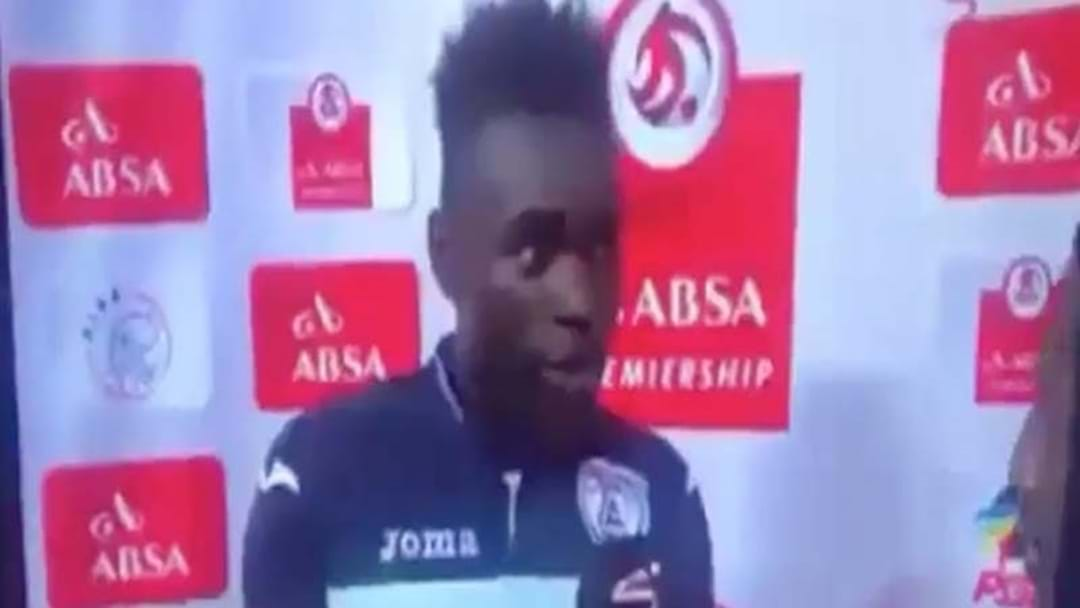 Football Player Accidentally Thanks Wife AND Girlfriend In Man Of The Match Speech