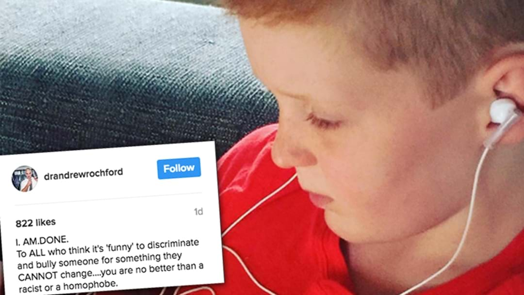 Dr Andrew Rochford's Heartbreaking Insta Post About His Son Being Bullied