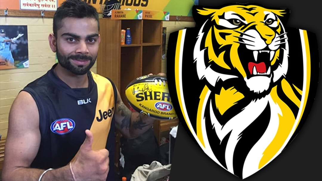 Virat Kohli Is A Richmond Supporter And He's Averaging 9 This Series