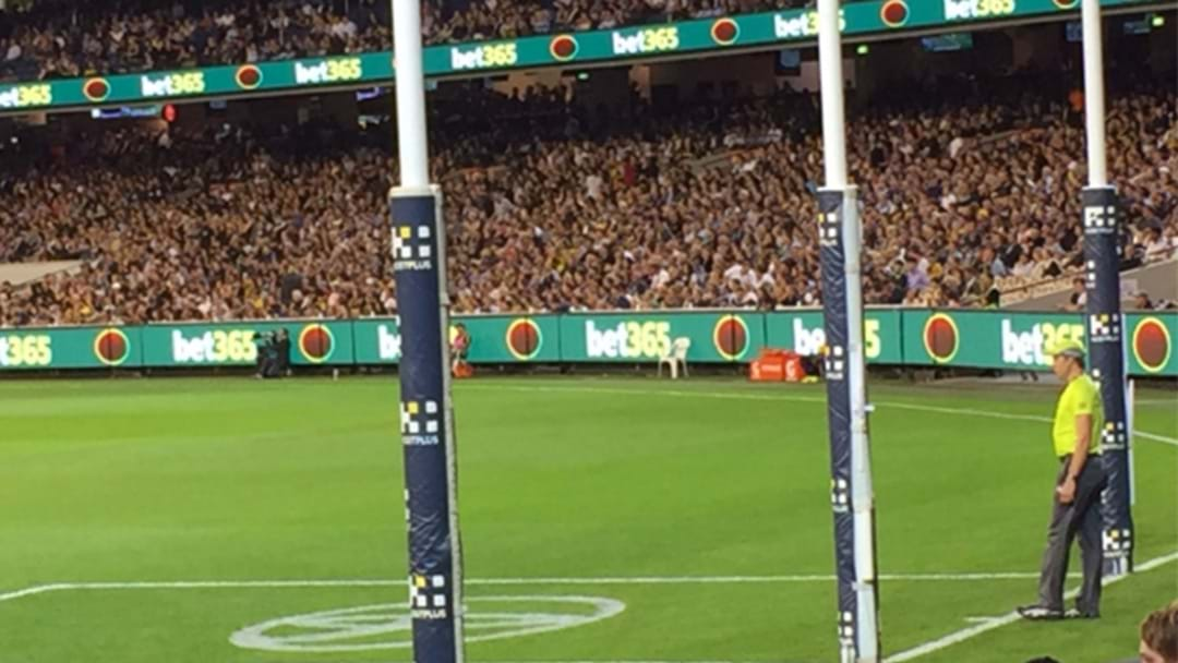 Everyone Is Absolutely Filthy At The AFL's Goal Square Advertising