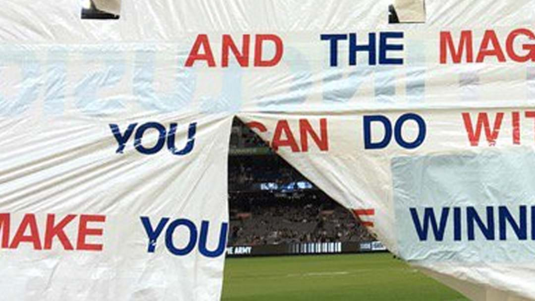 The First Western Bulldogs Banner Of The Year Is An Absolute Cracker