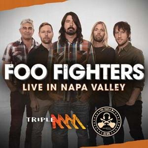 Your Ticket To See Foo Fighters LIVE In Napa Valley