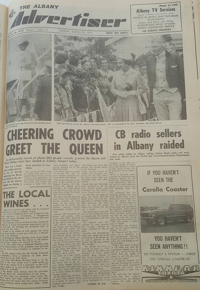 40th anniversary of the Royals 1977 visit to Albany