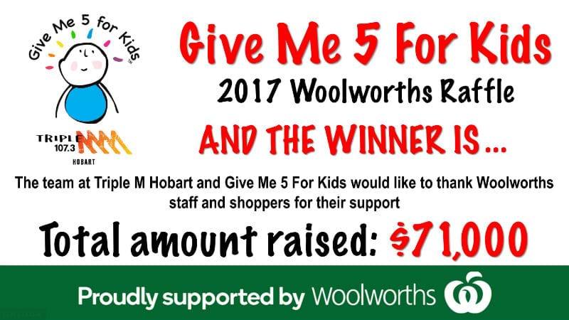 GM5FK Woolworths Raffle