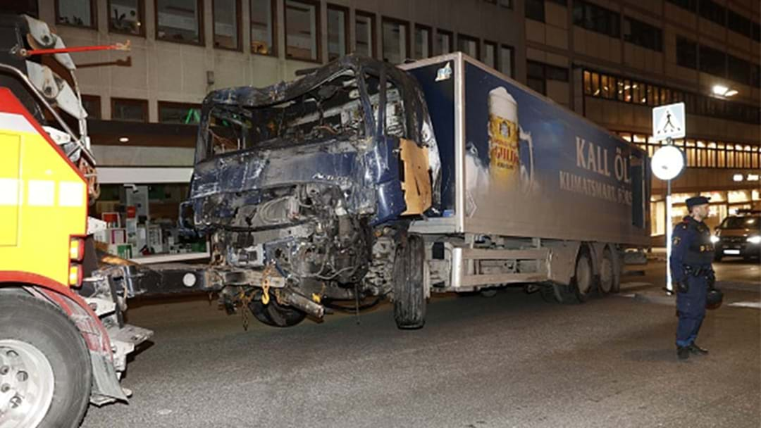 Two Arrested After Truck Attack In Sweden