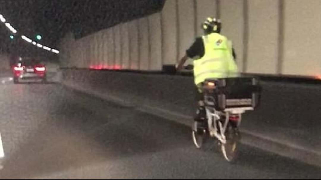 Pizza Delivery Rider Busted In Major Sydney Tunnel