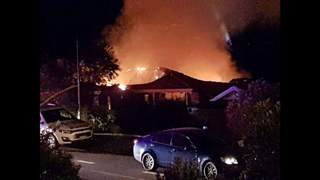 BERKELEY VALE: Hydro House up in Flames