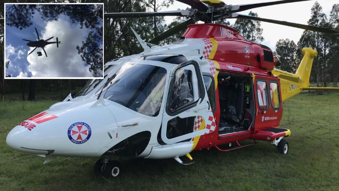 Dirt Bike Rider Winched to Safety Near Cessnock
