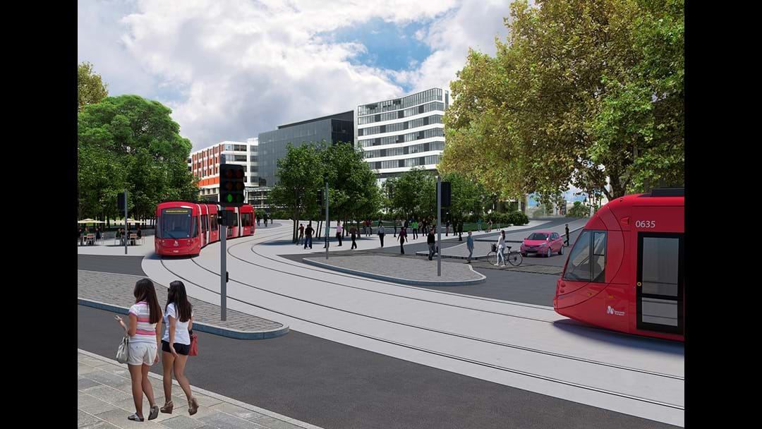 Wireless Light Rail Planned For Newcastle's CBD