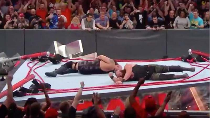 WWE Ring COLLAPSES After EPIC Body Slam