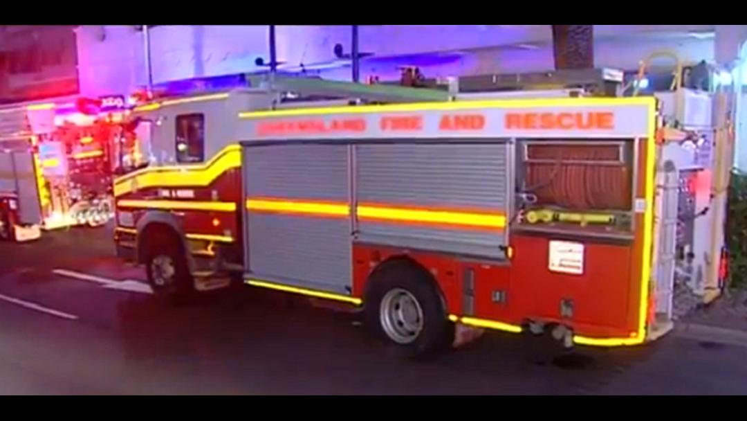 Balcony fire causes evacuation