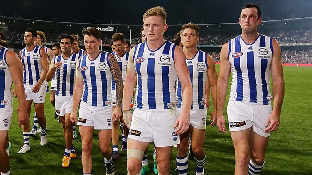 North Melbourne's Horror Record In Close Games Gets Even Worse