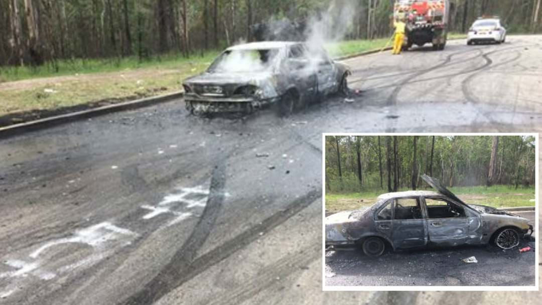 BURNT OUT: Wallsend Hoon Destroys Own Car Near Kurri