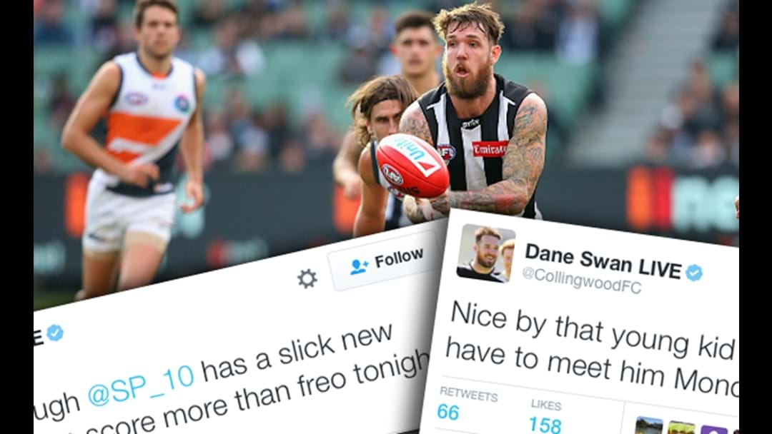Dane Swan Has Taken Over Collingwood's Twitter And It's Glorious