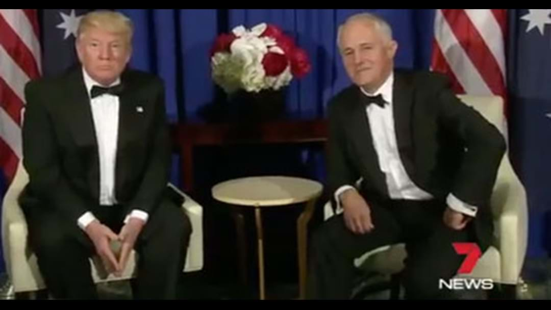 Video Released Of Trump & Turnbull's Nice & Awkward Public Meeting