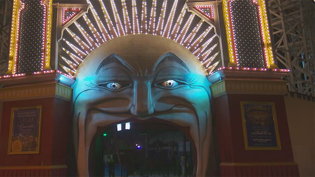 Teeth At Luna Park Covered Up In Honour Of Collingwood's 125th Anniversary