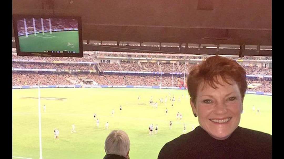 Pauline Hanson's Awkward Footy Tweet
