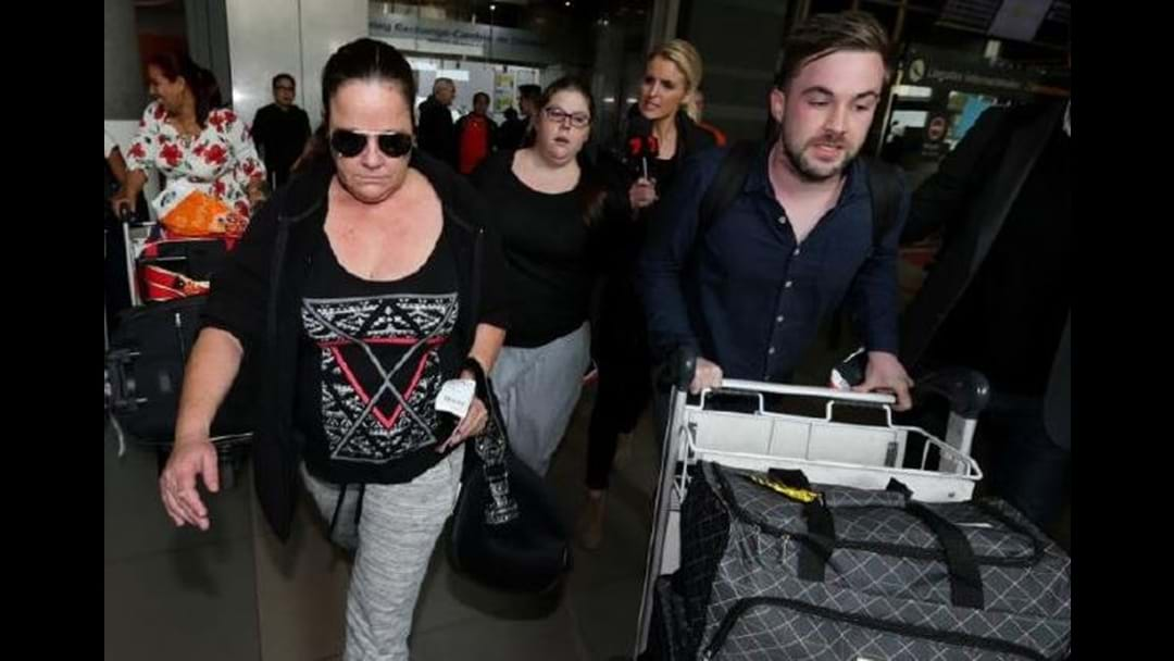 Cassie Sainsbury's Family Dodge Questions On Arrival In Colombia
