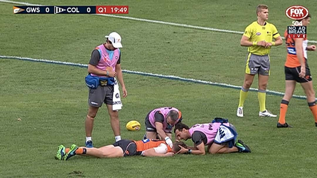 GWS Defender Concussed In The Opening Seconds Against Collingwood