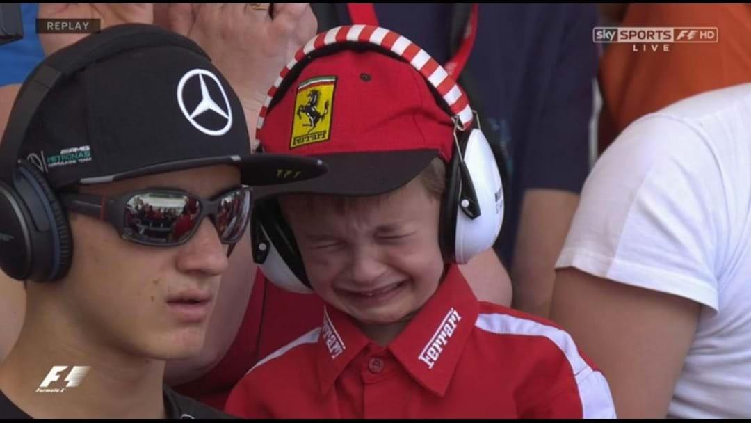 Crying Fan Gets To Meet Formula 1 Hero