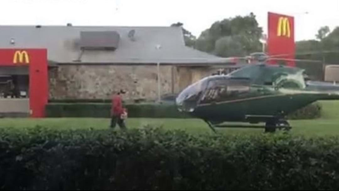 Chopper Pilot Picks Up McDonald's Order