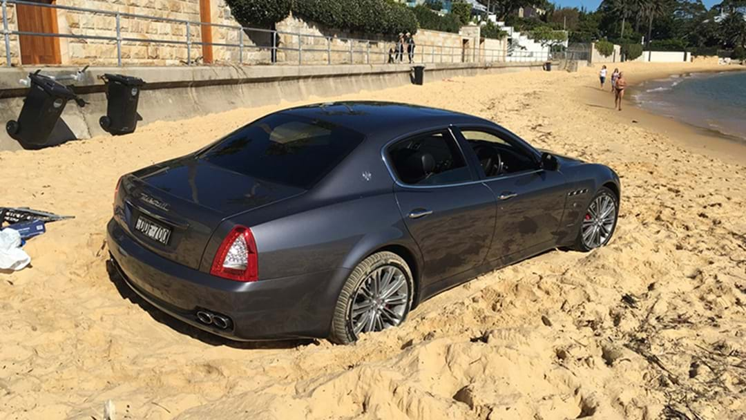 Luxury Car Found On Sydney Beach