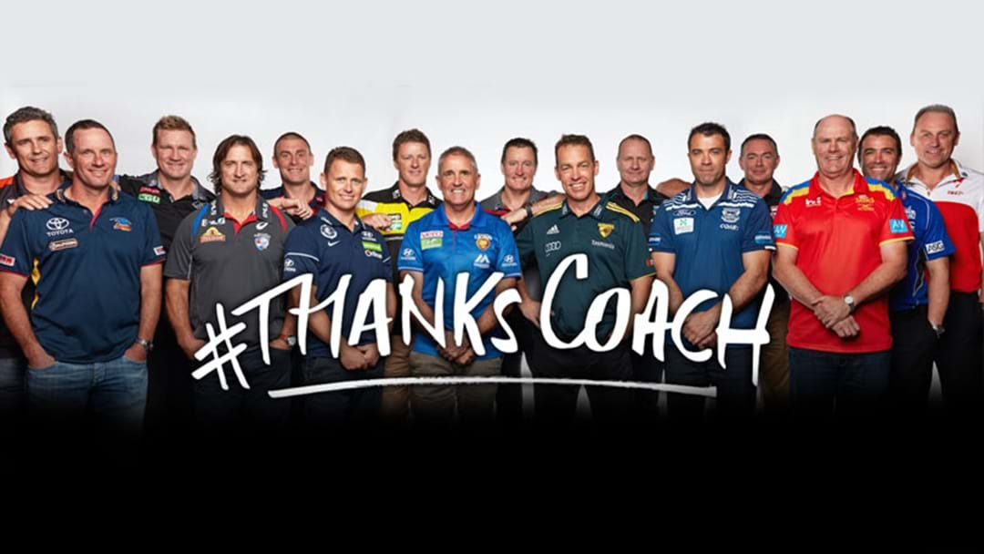 AFL Coaches Join Forces For #ThanksCoach
