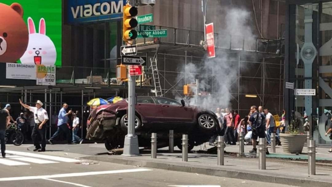 Car Into Crowd In New York
