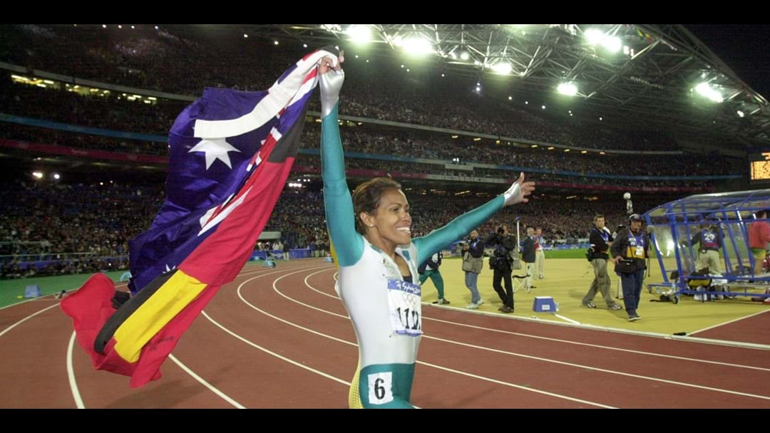 Cathy Freeman flies flag for Gold Coast