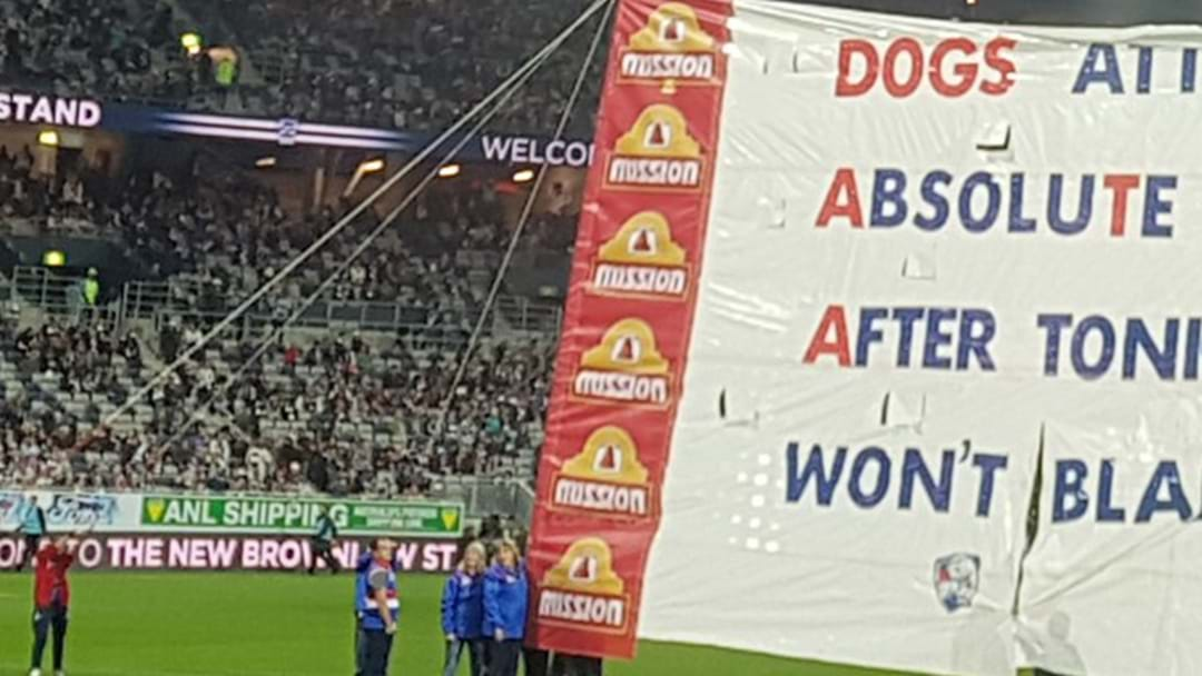 The Western Bulldogs Snuck A Hidden Message Into Their Banner