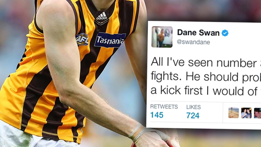 Dane Swan Sledges A Hawthorn Player On Twitter