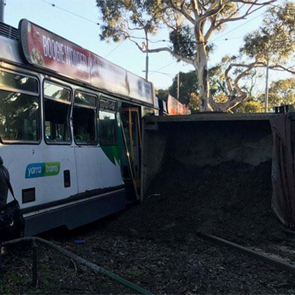 Tram & Truck Collide In Royal Park