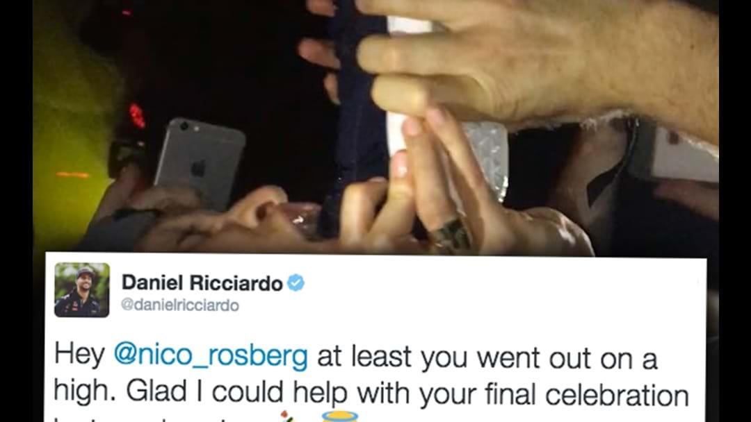 Daniel Ricciardo Reveals He Made Nico Rosberg Do A SHOEY After Winning The World Championship