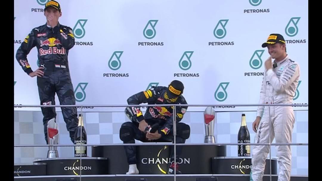 Daniel Ricciardo Wins Malaysian Grand Prix, Does Another Shoey