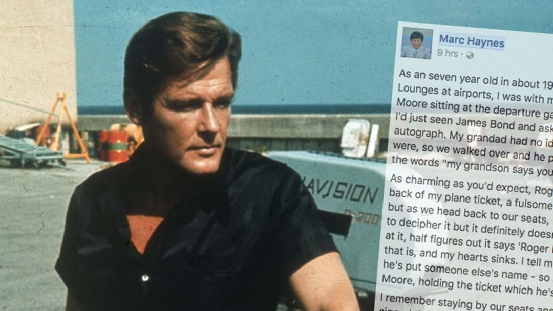 Bloke Shares Incredible Story About Meeting Roger Moore