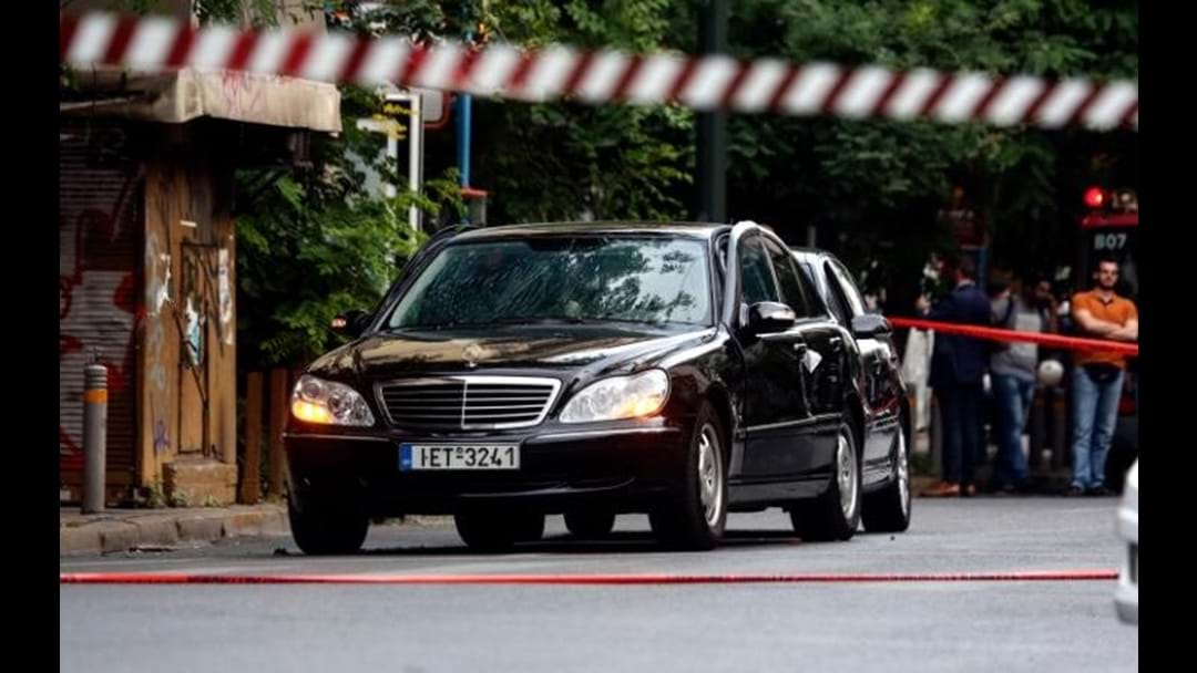 Explosion Inside Former Greek PM's Car