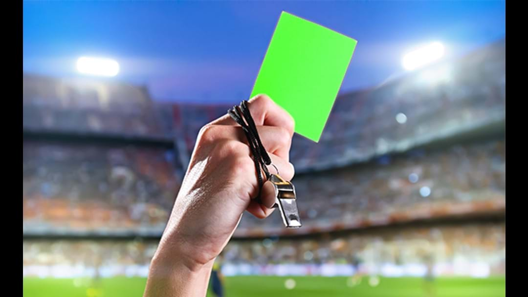 Football's First Ever Green Card Shown