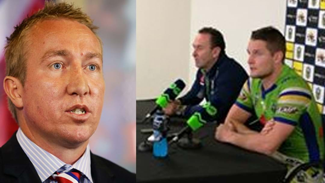 Trent Robinson Takes Ricky Stuart's Comments Personally