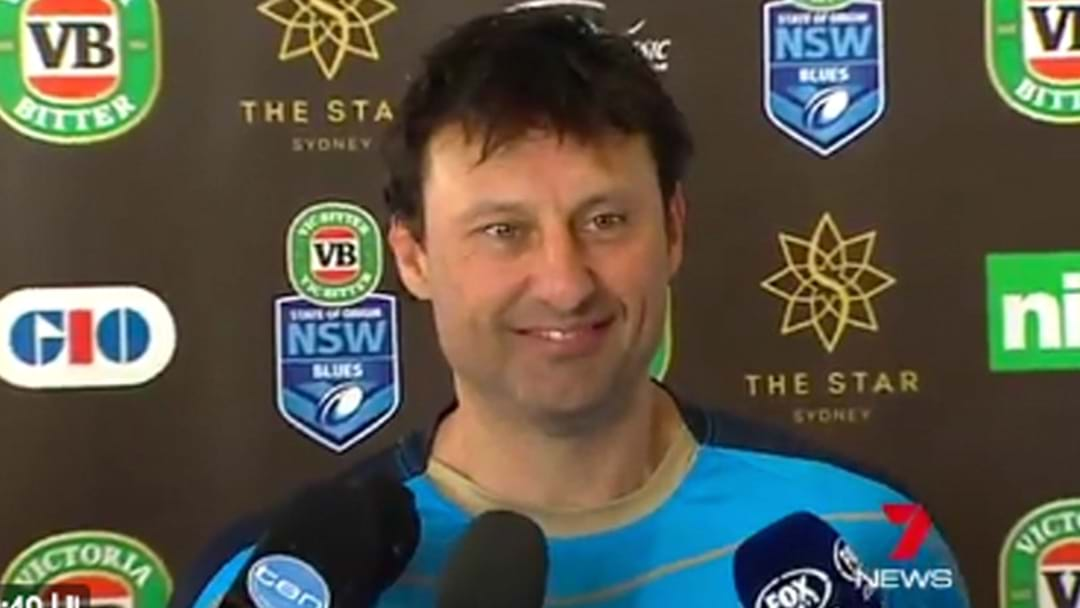 Laurie Daley Laughs At Queensland