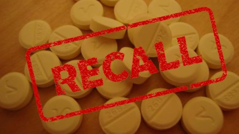 Valium recall after suspected tampering