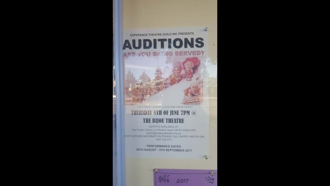 Auditions Commencing