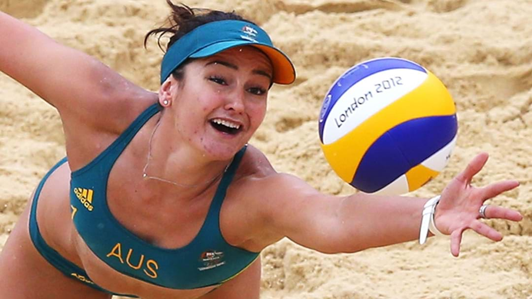 Adelaide sign beach volleyball Olympian