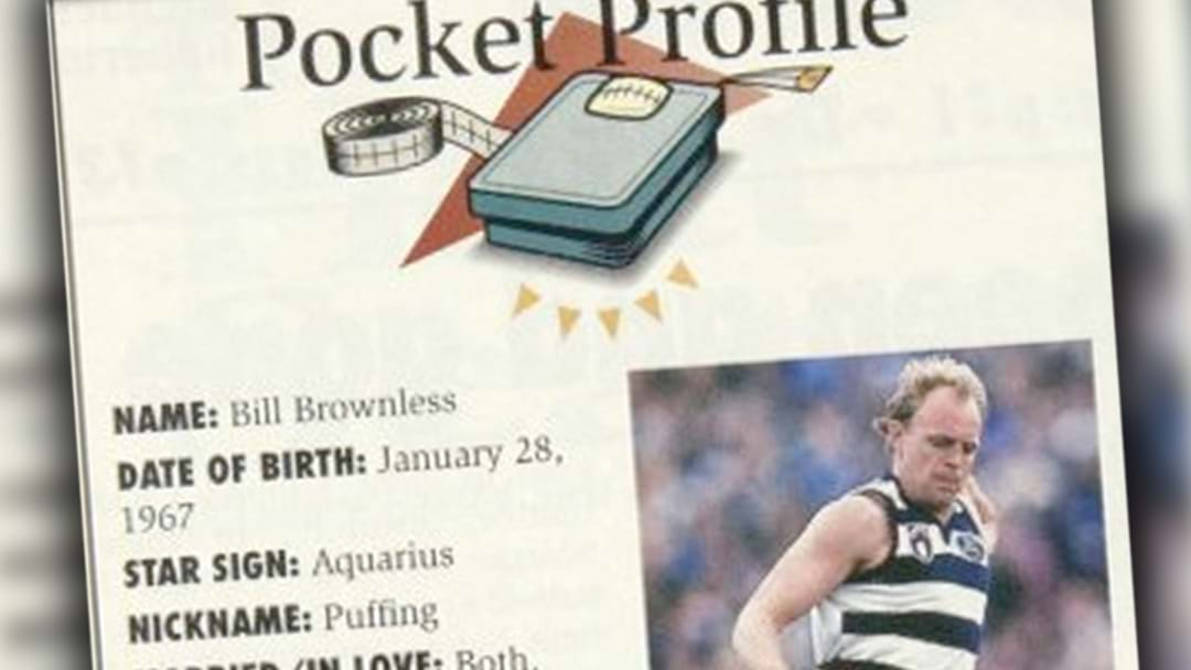 Billy Brownless's Hilarious Pocket Profile Has Been Uncovered