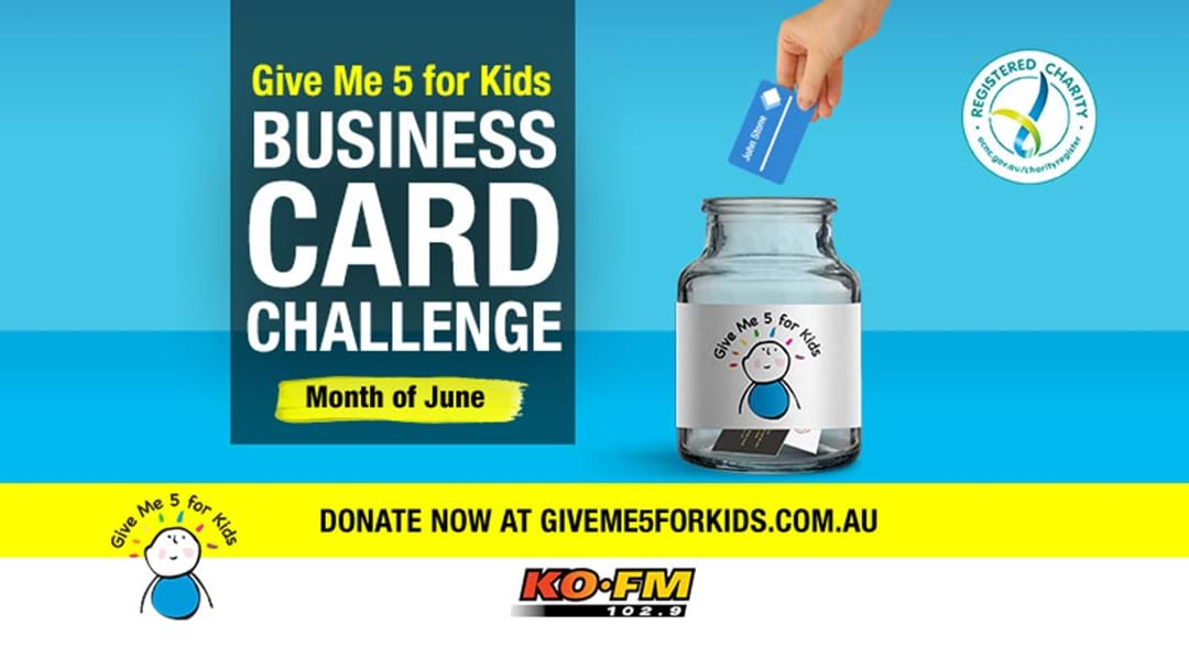 KOFM's Give Me 5 For Kids Business Card Challenge