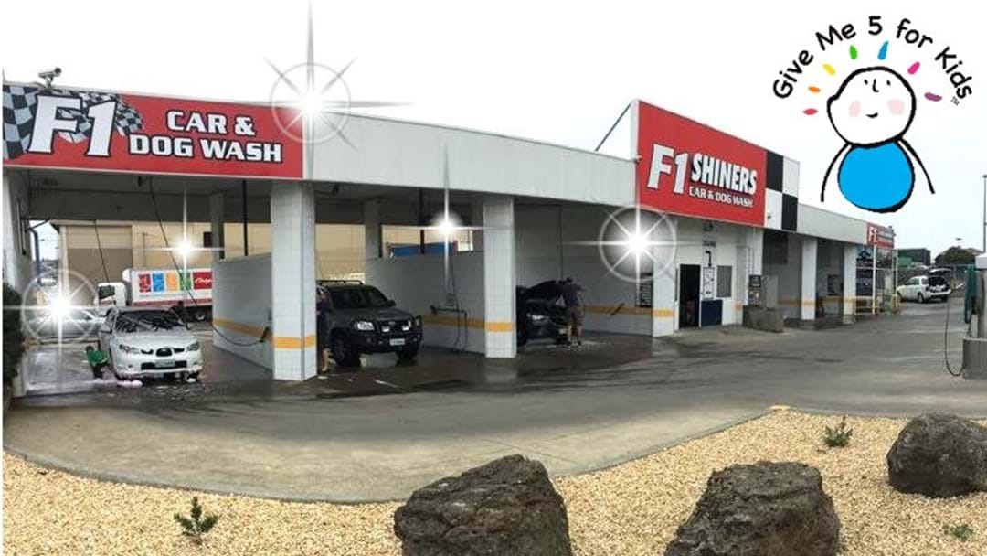 F1 Shiners Car and Dog Wash supports GM5