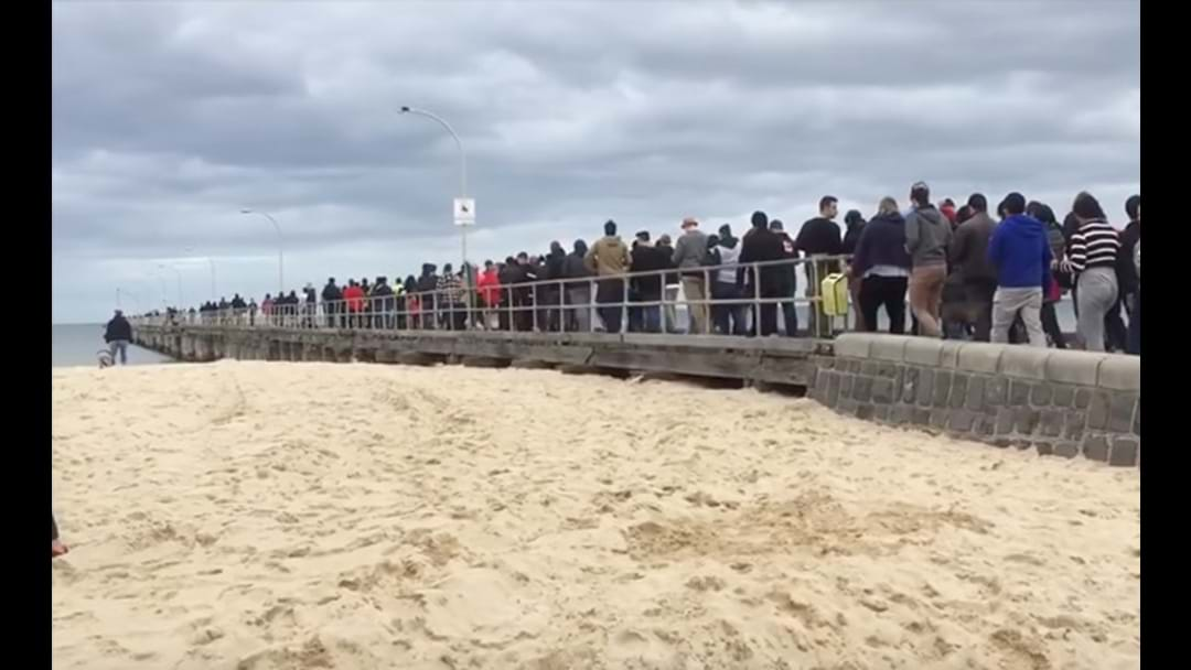 Stampede Of Pokemon Go Players On Altona Beach